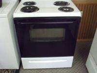 Nice black and white electric stove for only $250.00.