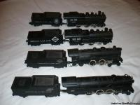 Early 1950's American Flyer train sets. 4 engines