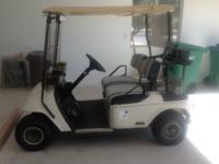 2000 EZGO Golf Car with split windshield in good