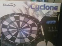 I am selling a Halex Cyclone electronic dartboard. Its