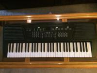 Electronic keyboard with 61 keys. Options for different