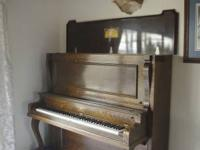 Elegant Antique Upright Grand Piano Made by Eiler's