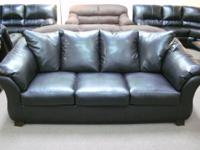 "BRAND NEW ASHLEY SOFA & LOVESEAT - BLACK Sofa: 90""W x"