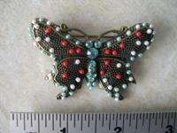 This vintage style Butterfly brooch pin has small