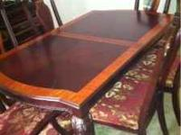 I have excellent condition cherry wood dining room