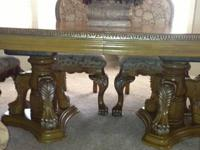 Elegant Dining Room Table & 8 Chairs (Comes with