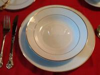 Entertain 2-8 guest with this lovely dinnerware by