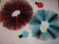 I am making beautiful little girl's Tutu's. Here are