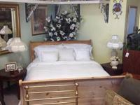This sleigh bed's classic styling and majestic presence