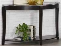 This elegant contemporary sofa table will give your