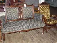 We have this very nice Victorian parlor sofa and chair