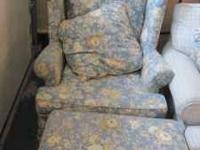 Very nice and beautiful wing back chair and matching