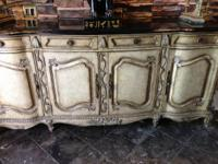 Beautifully ornate, wooden, solid buffet for sale. The