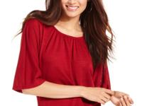 Elementz' pretty crimson top is a workwear basic that