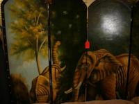 JIMMY'S WAREHOUSE has a hand painted room divider with