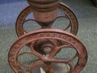 We have a nice antique Elgin National coffee mill