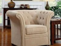 Elizabeth Accent Chair * Wrapped in a durable fabric