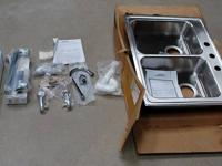 ADA Compliant Top Mount Double Bowl Kitchen Sink,