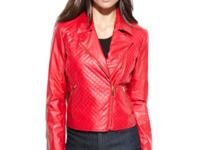 Add this sizzling red jacket into your wardrobe to