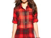 Nodding to the mad-for-plaid trend, Ellen Tracy's shirt