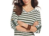 A striped tee will never go out of style! Ellen Tracy's