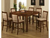 ELLIOT COUNTER HEIGHT DINING SET *Made of solids and