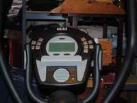 the elliptical has full digital display heart monitor