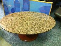 "COFFEE/MAGAZINE TABLE WITH GRANITE TOP(48""wide x"