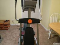 Very nice, heavy duty elliptical exercise machine.