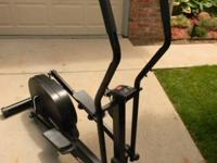This elliptical machine has power adjustable with front