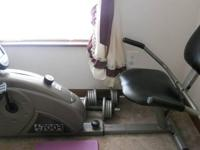Recumbant bike in good condition. The only thing wrong