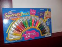 Elmers squeeze' n brush washable markers, brand new