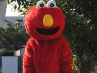 Elmo professional mascot costume and Mickey