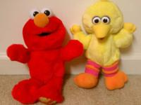 Elmo and one Big Bird are talking all three for 12