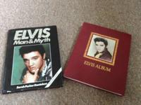 two Elvis books hard cover in nice condition