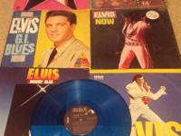 Elvis Presley Sixx vinyl record album lot.  Elvis moody
