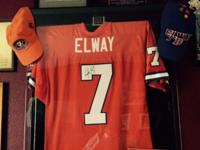 Beautiful John Elway Authentic Jersey, signed by John