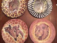 "Set of (4) I. Godinger ""Wild Life"" Collector Plates"