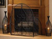 Item 10015399 Embellished Fireplace Screen  A Fireplace