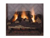 The Emberglow Lanier Oak Vented Gas Log Set features 6