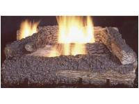 This 21 in., Manual Vent Free Gas Log Set operates with