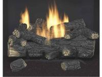 The 18 in. Vent-Free Natural Gas Fireplace Logs operate