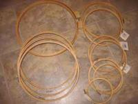 Selling various sizes of embroidery hoops. .