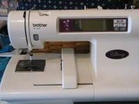 PE 180D Disney Brother embroidery machine w/plastic