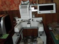 Baby lock BMP 6 free standing embroidery machine.