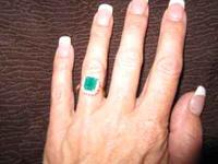 Beautiful 2-3+ carat emerald ring, square/emerald cut.