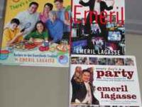 Emeril Lagasse cookbooks, set of 3, are in great