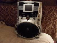 Emerson Karaoke machine with built-in tv screen and has