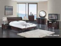 Emily Bedroom set 5Pc ( Cherry-White-Wenge) Queen Bed ,