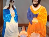 Empire Large Life Size 3 Piece Nativity Christmas Blow